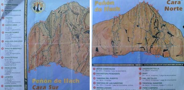 Peñón de Ifach: Klettertopo