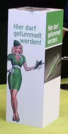 Werbung auf der Aero