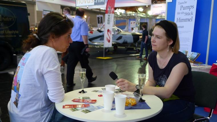 Interview mit Judith Spörl auf der AERO 2018 © Maja Christ