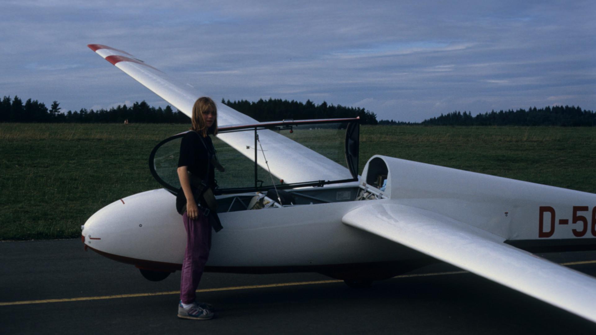 Segelflugschulung Anfang der 1990er am Feuerstein © Hartmut Christ