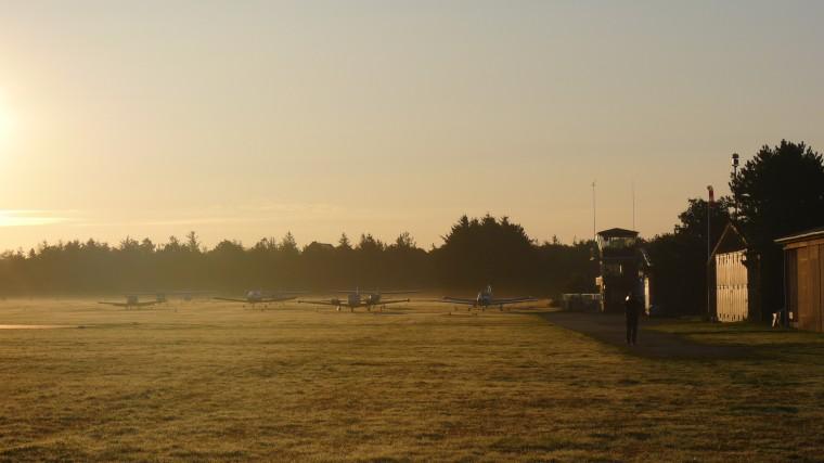 Morgenstimmung am Flugplatz Wyk © Christ/Chavarria