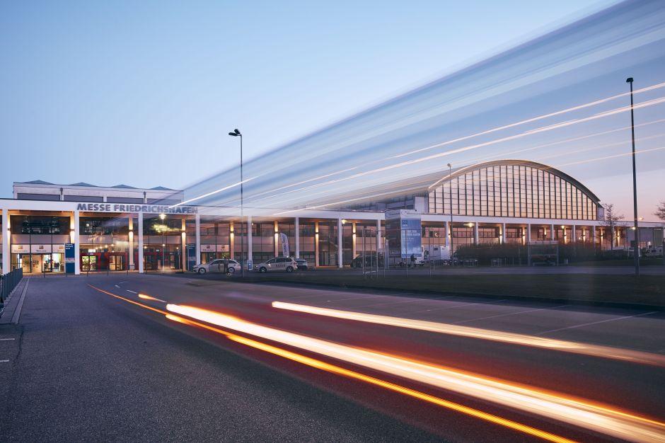 IBO, Eingang west [Quelle: Kommunikation Messe Friedrichshafen]