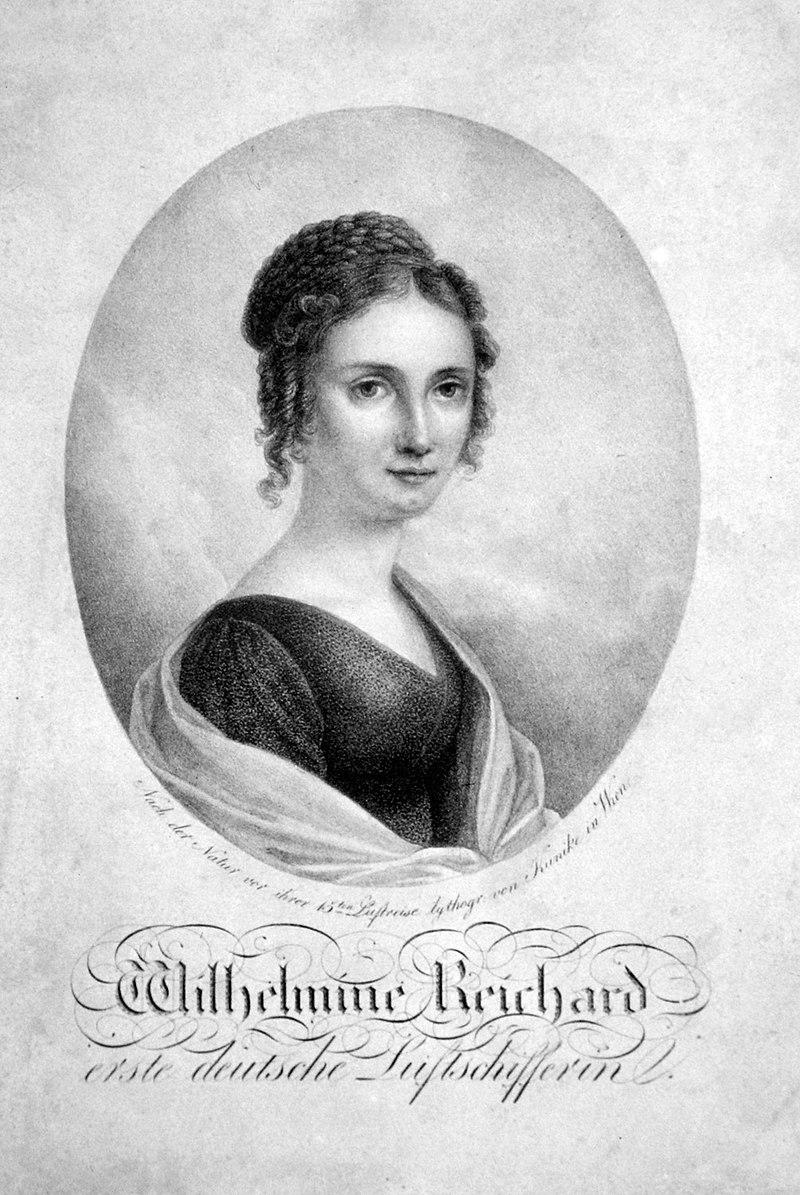 Wilhelmine Reichard, Adolph Friedrich Kunike - Eigenes Foto einer Originallithographie (Albertina Wien)