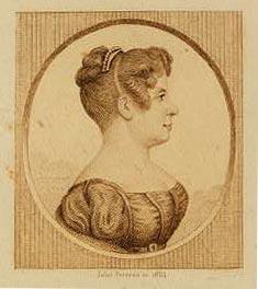 Kupferstich von Elise Garnerin (1854 laut Library of Congress, Washington)