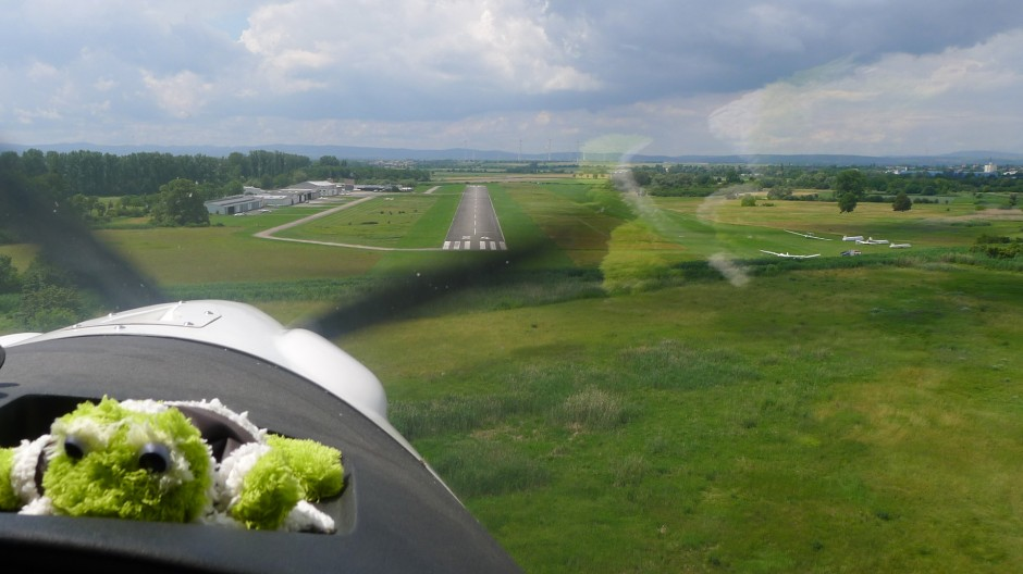 Anflug in Worms EDFV © Maja Christ