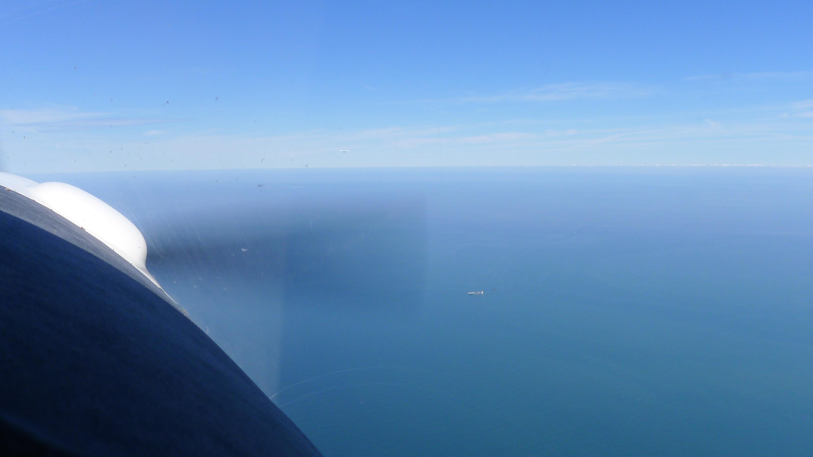 Flug über die Nordsee © Maja Christ