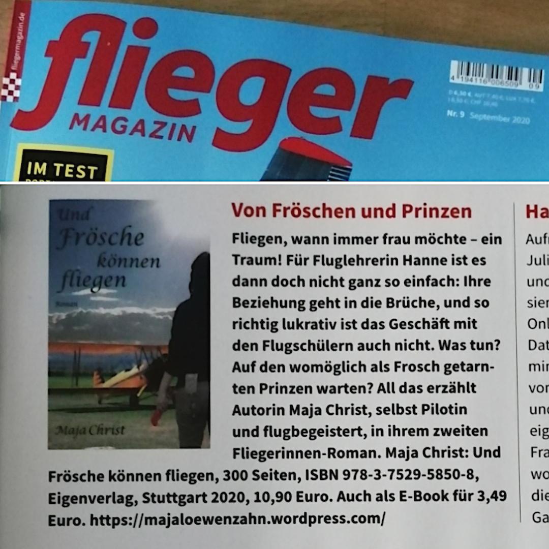 Fliegermagazin 9/20 – Und Frösche können fliegen