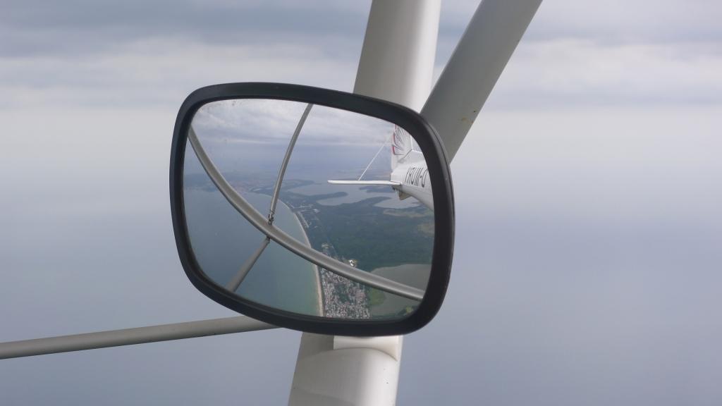 Rückblick Flugzeug © Maja Christ