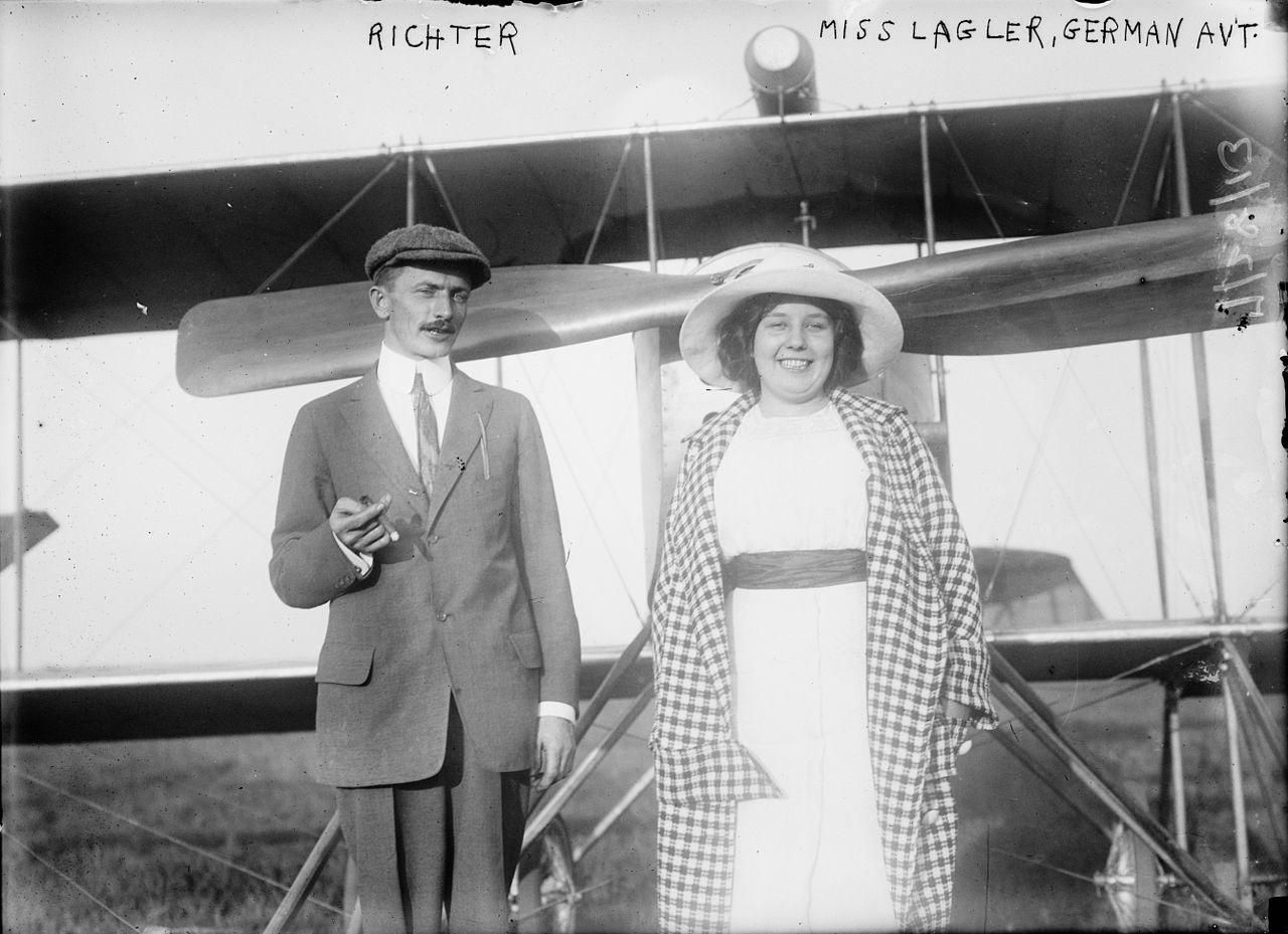 Joseph Richter und Božena Laglerová, Foto: Bain News Service, http://hdl.loc.gov/loc.pnp/ggbain.13814