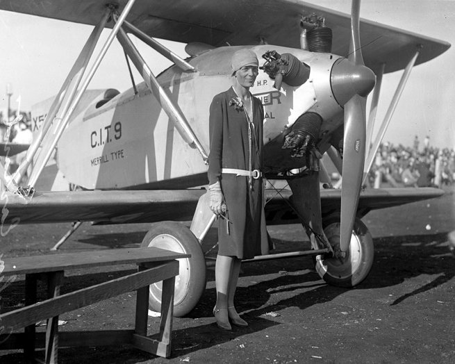 """Amelia Earhart, Los Angeles, 1928 X5665 – 1926 """"CIT-9 Safety Plane"""""""