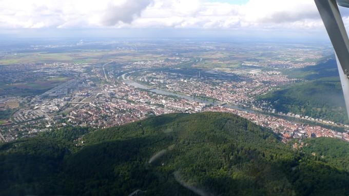 Heidelberg aus der Luft © Maja Christ