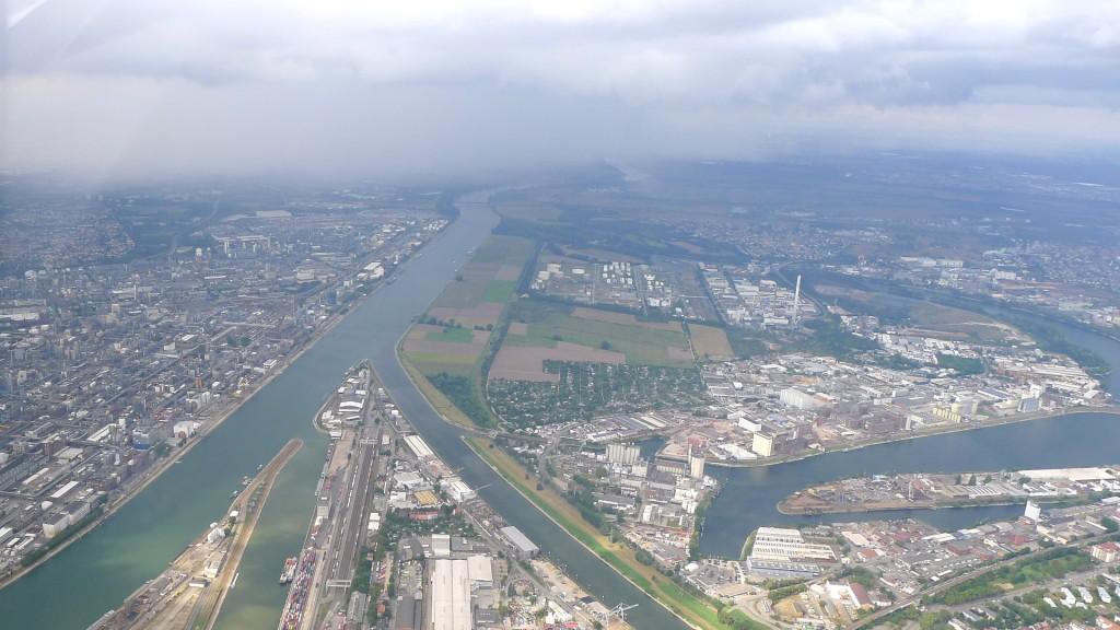 Neckarmündung aus der Luft © Maja Christ