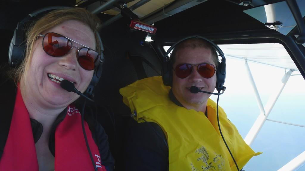 Glückliche Piloten über der Ostsee © Maja Christ